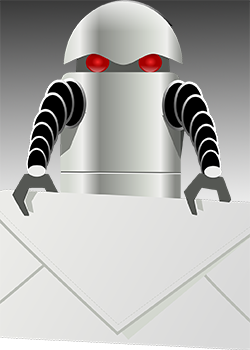 Roboter mit Brief