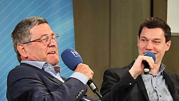 Roland Tichy und Moderator Dennis Horn